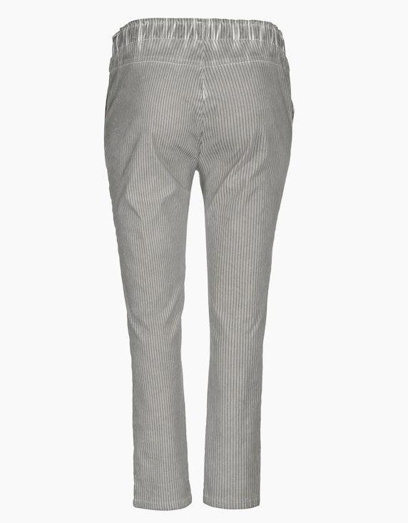 Thea Bengalin-Joggpants im Streifen-Look mit Glanzeffektgarn | ADLER Mode Onlineshop