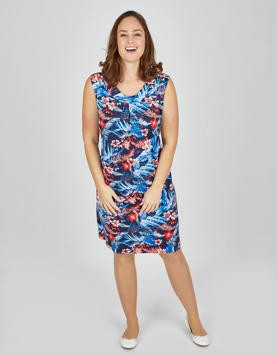 Thea Jersey-Kleid mit Allover-Print | ADLER Mode Onlineshop