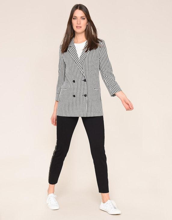 MY OWN Karo-Blazer, oversized-Look, 2-reihige Knopfleiste | ADLER Mode Onlineshop