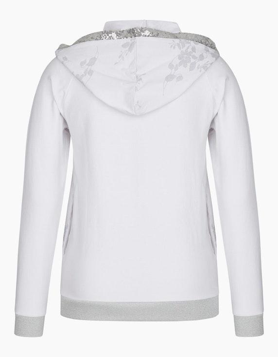 MY OWN Jersey-Jacke mit Kapuze, Pailletten und Silberdruck   ADLER Mode Onlineshop