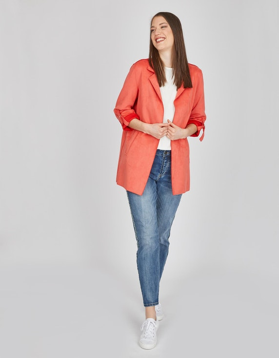 MY OWN Long-Blazer aus Velourlederimitat | ADLER Mode Onlineshop