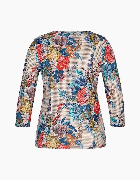 Malva Shirt mit Gobelin- und Hahnentritt-Druck | ADLER Mode Onlineshop