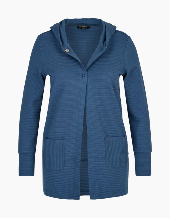 Bexleys woman Cardigan mit Kapuze in Rauchblau | ADLER Mode Onlineshop