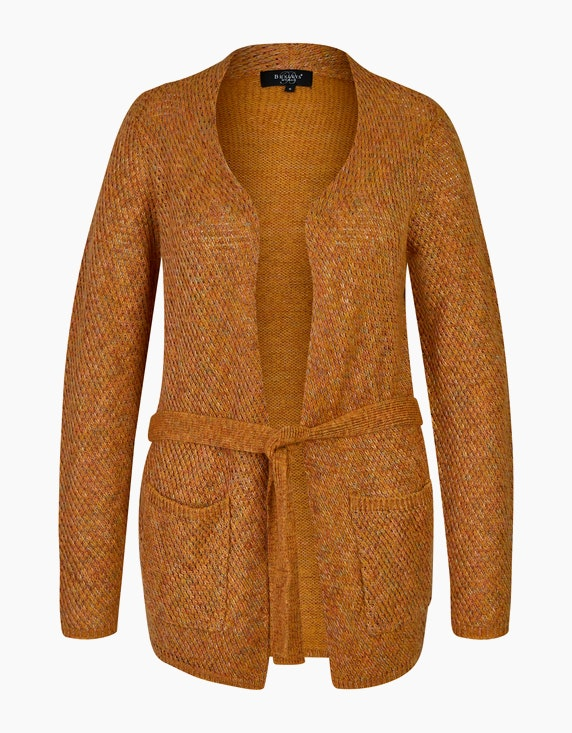 Bexleys woman Strickjacke aus mehrfarbigem Garn in Hellbraun | ADLER Mode Onlineshop