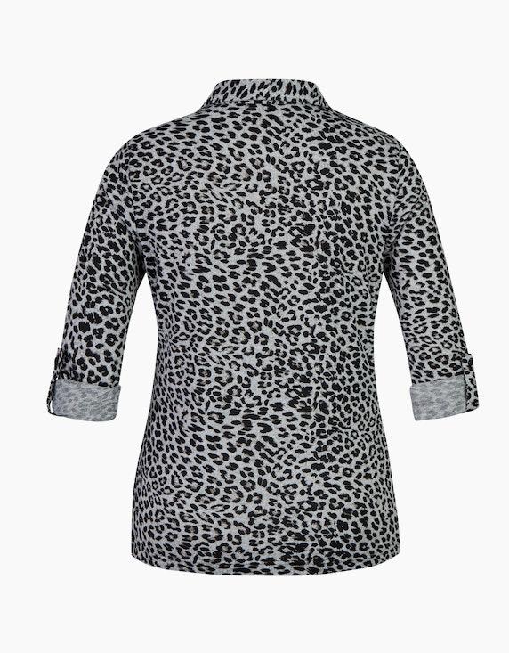 Bexleys woman Flauschbluse mit Leo-Print und Krempelärmeln   ADLER Mode Onlineshop