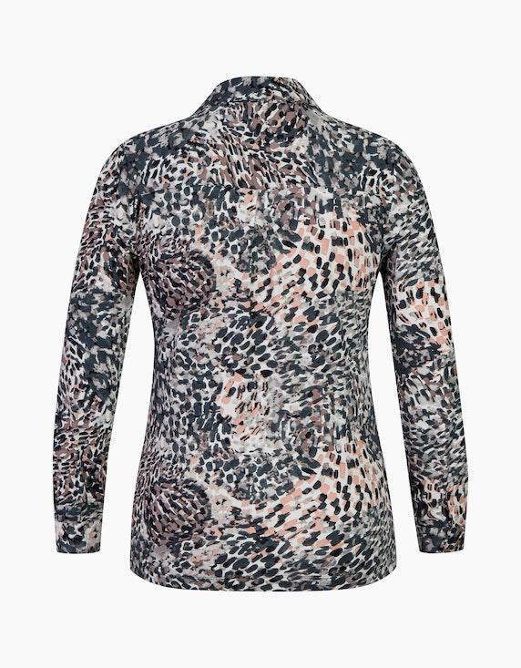 Bexleys woman Jerseybluse mit Allover-Print und Hemdkragen   ADLER Mode Onlineshop