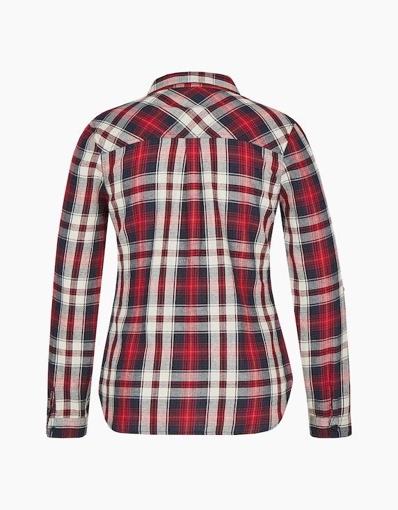 Bexleys woman Karo-Bluse mit Cacharelfalte   ADLER Mode Onlineshop