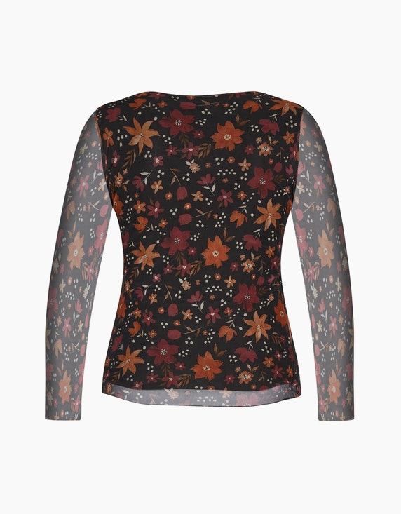 Made in Italy Blusenshirt aus Mesh   ADLER Mode Onlineshop