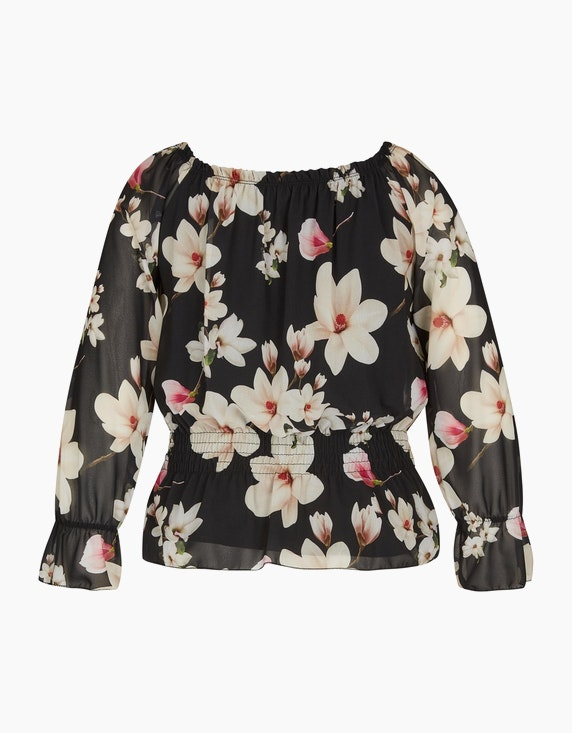 Made in Italy Chiffon-Bluse mit Blumendruck | ADLER Mode Onlineshop