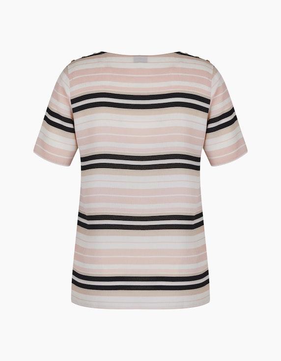Bexleys woman Crêpe-Bluse mit Streifen-Dessin und Zierknöpfen an der Schulter | ADLER Mode Onlineshop