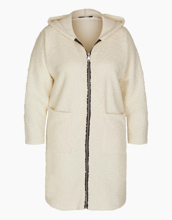 MY OWN Teddyfell-Jacke mit Kapuze in Wollweiß | ADLER Mode Onlineshop