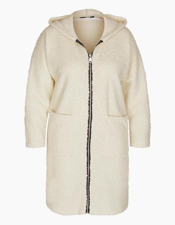 MY OWN Teddyfell-Jacke mit Kapuze in Wollweiß   ADLER Mode Onlineshop