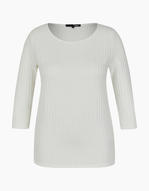 MY OWN Shirt mit Allover-Struktur in Offwhite | ADLER Mode Onlineshop