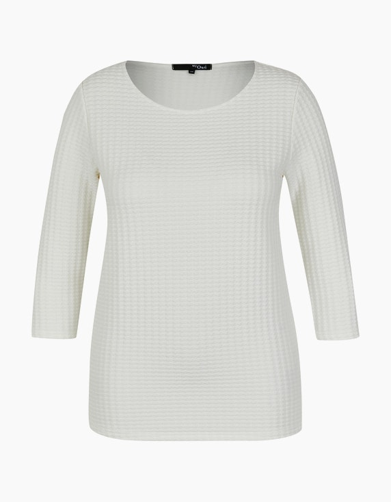 MY OWN Shirt mit Allover-Struktur in Offwhite | ADLER Mode Onlineshop