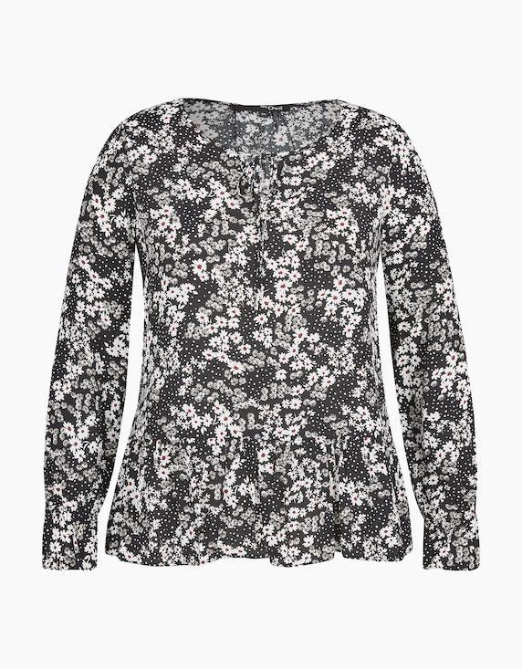 MY OWN Shirt mit Blümchen- und Punkteprint in Schwarz/Weiß/Rot/Grün   ADLER Mode Onlineshop