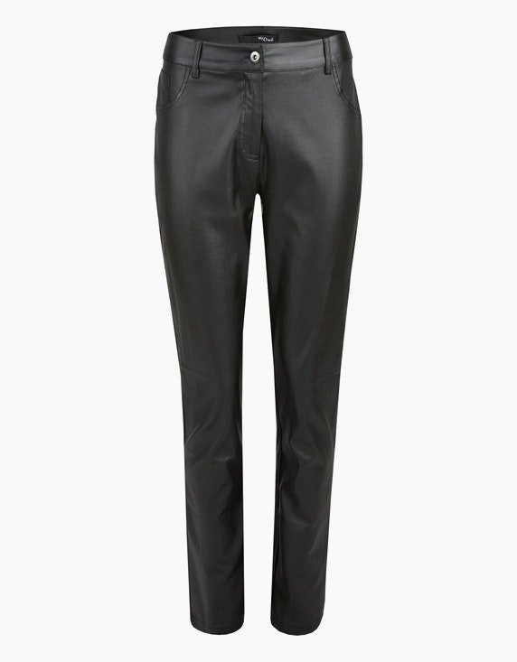 MY OWN Lederimitat-Hose, Slim Fit in Schwarz | ADLER Mode Onlineshop