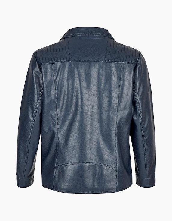 Thea Lederimitat-Jacke im Biker-Stil mit Reißverschluss   ADLER Mode Onlineshop