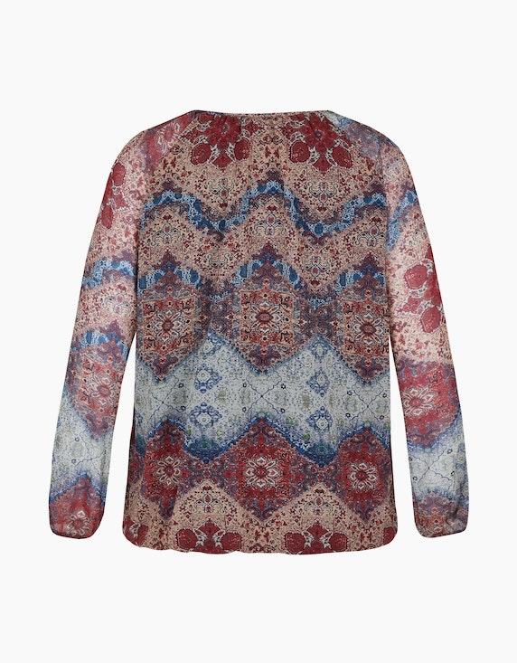 Thea Blusenshirt mit Allover-Muster | ADLER Mode Onlineshop