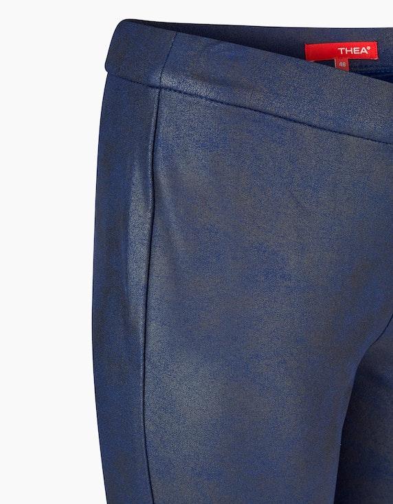 Thea Jersey-Leggings mit Beschichtung im Lederimitat-Look | ADLER Mode Onlineshop