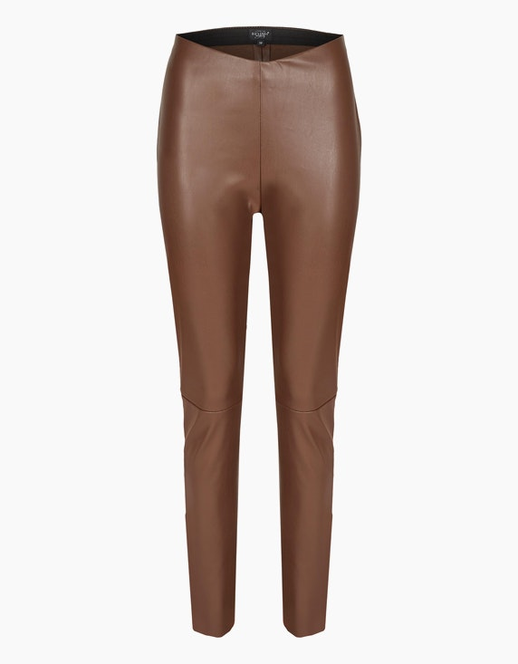 Bexleys woman Leggings in Leder-Optik in Braun | ADLER Mode Onlineshop