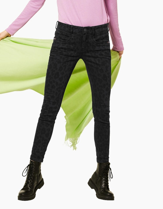 Street One Jeans mit Leo-Muster | ADLER Mode Onlineshop