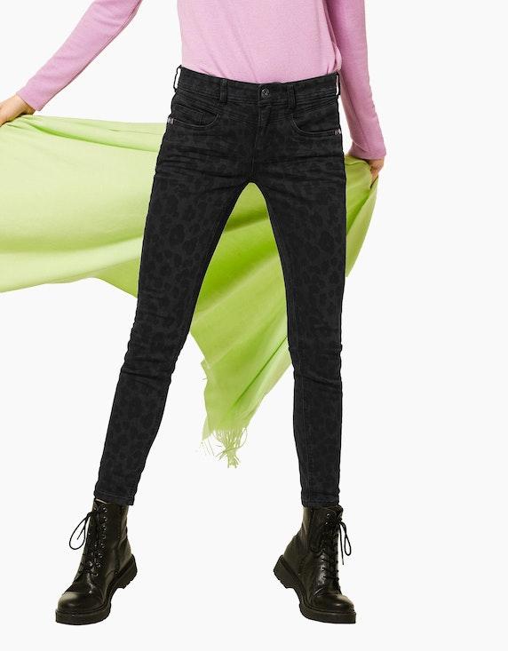 Street One Jeans mit Leo-Muster   ADLER Mode Onlineshop