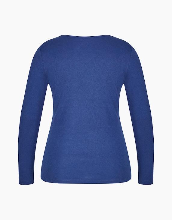 Bexleys woman Langarmshirt mit Druck und Strassbesatz | ADLER Mode Onlineshop
