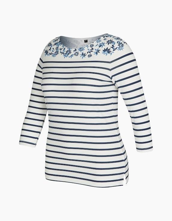 Bexleys woman Gestreiftes Shirt mit Ärmeln in 3/4-Länge | ADLER Mode Onlineshop