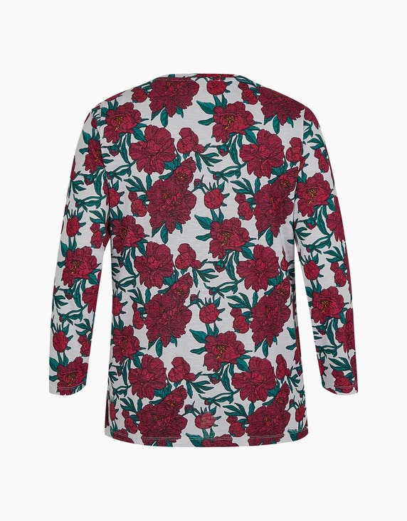 Thea Feinstrick-Shirt mit Rosenmuster | ADLER Mode Onlineshop