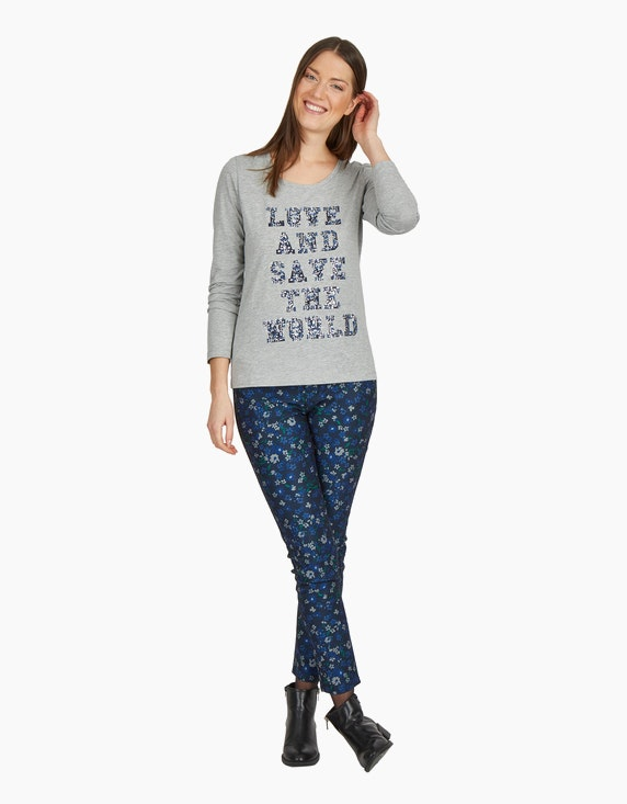 MY OWN Shirt mit Letterprint und Effekten | ADLER Mode Onlineshop