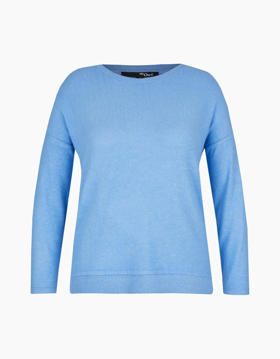 MY OWN Flauschiger Feinstrick-Pullover in Hellblau | ADLER Mode Onlineshop