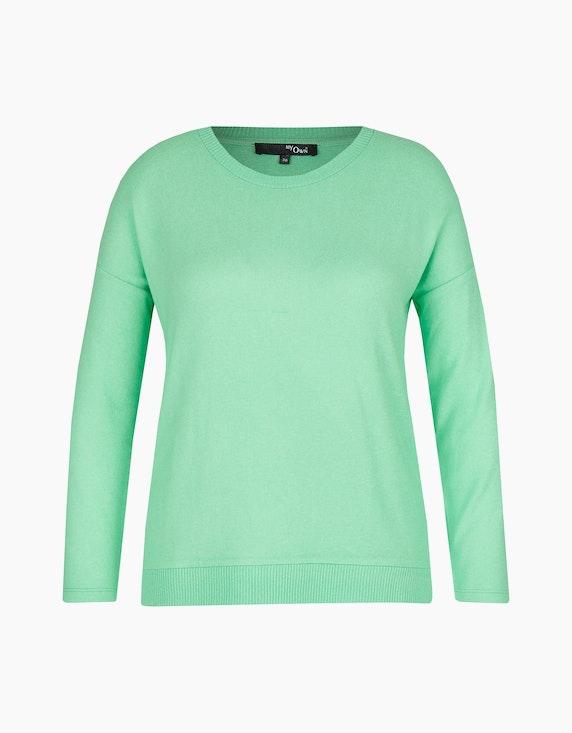 MY OWN Flauschiger Feinstrick-Pullover in Grün | ADLER Mode Onlineshop