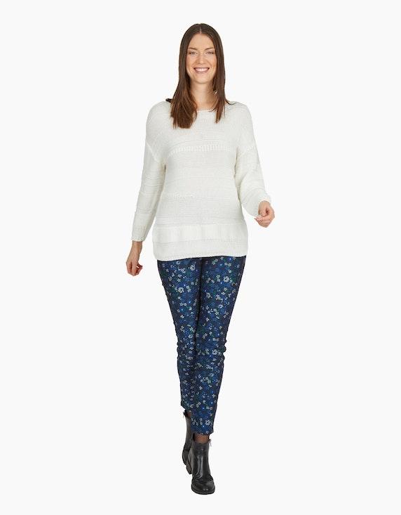 MY OWN Strick-Pullover im Mustermix, reine Baumwolle | ADLER Mode Onlineshop