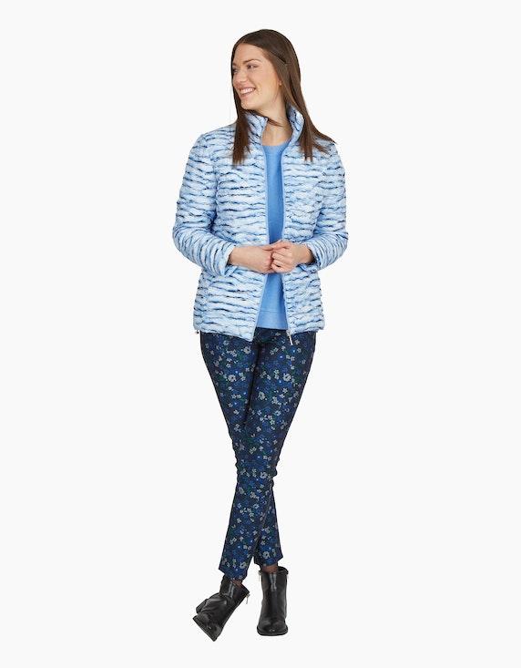 MY OWN Hose mit floralem Allover-Druck in Marine/Blau/Grün/Grau | ADLER Mode Onlineshop
