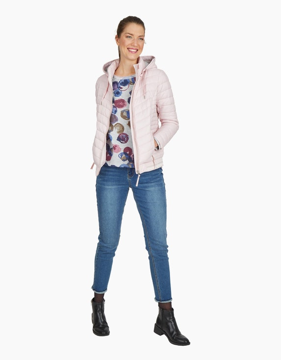 Via Cortesa Steppjacke mit abnehmbarer Kapuze in Rose | ADLER Mode Onlineshop