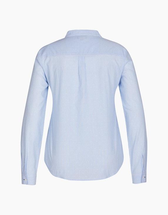 Via Cortesa Streifenbluse mit Hemdkragen, reine Baumwolle | ADLER Mode Onlineshop