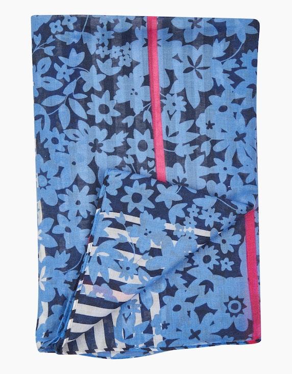 Via Cortesa Loop-Schal im Streifen- und Blumendessin | ADLER Mode Onlineshop
