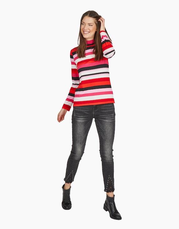MY OWN Shirt mit Stehkragen und Streifen-Struktur | ADLER Mode Onlineshop