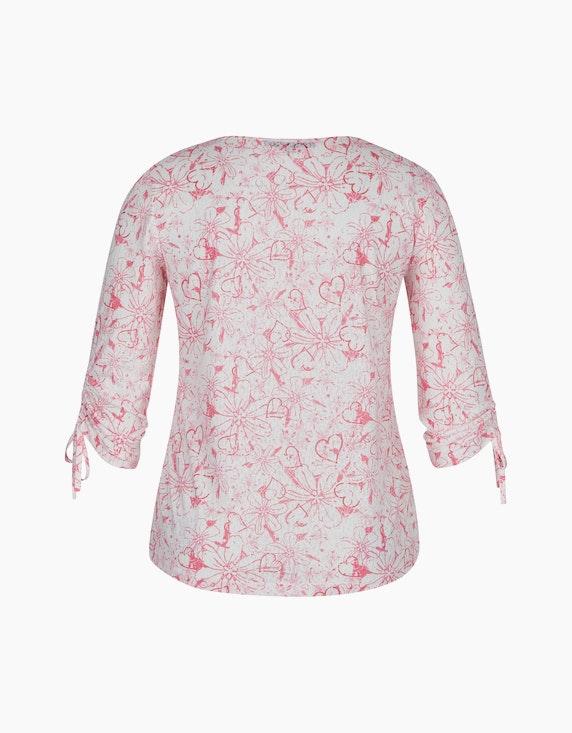 MY OWN Ausbrenner-Shirt mit Blumenprint und Raffärmeln | ADLER Mode Onlineshop
