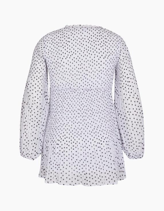 MY OWN Plissee-Bluse mit Rüschen-Details und Punkten | ADLER Mode Onlineshop