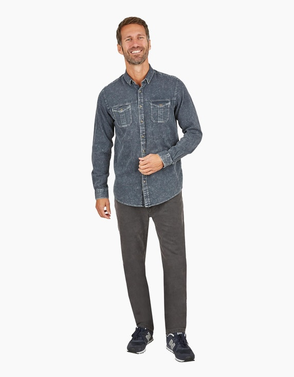 Eagle Denim Hemd mit Button-Down Kragen | ADLER Mode Onlineshop