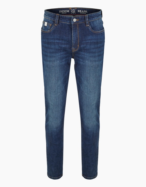 Via Cortesa Jeans im 5-Pocket Style in Blue Denim | ADLER Mode Onlineshop