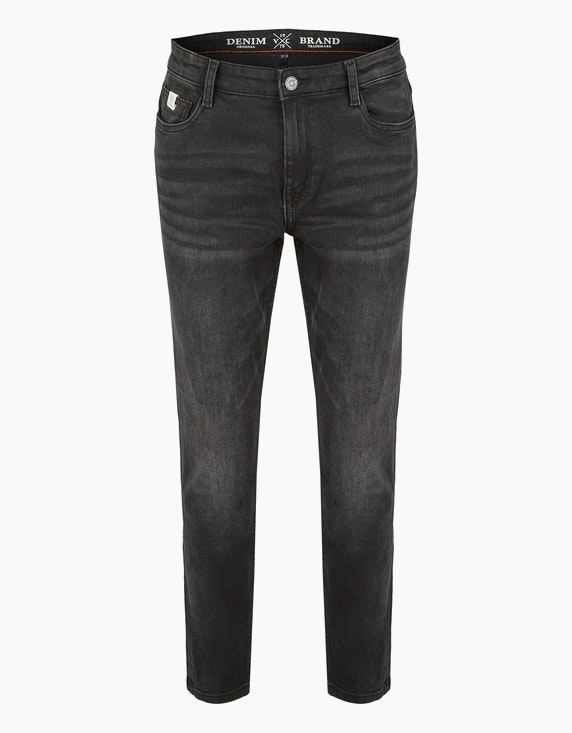 Via Cortesa Jeans im 5-Pocket Style in Black Denim | ADLER Mode Onlineshop