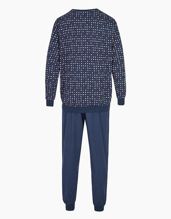 Bexleys man langer Pyjama mit bedrucktem Oberteil | ADLER Mode Onlineshop