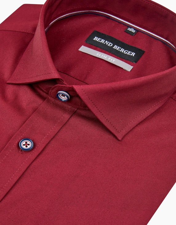 Bernd Berger Dresshemd unifarben in schmalem Schnitt | ADLER Mode Onlineshop