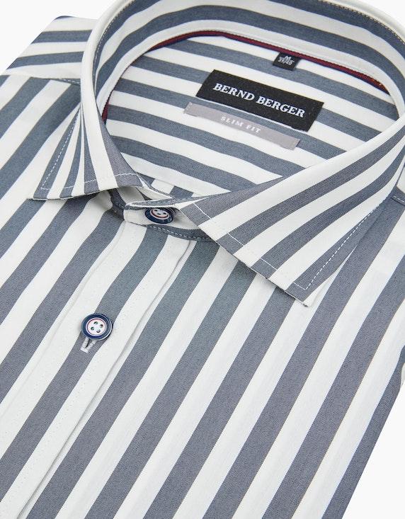 Bernd Berger Gestreiftes Dresshemd in schmalem Schnitt | ADLER Mode Onlineshop