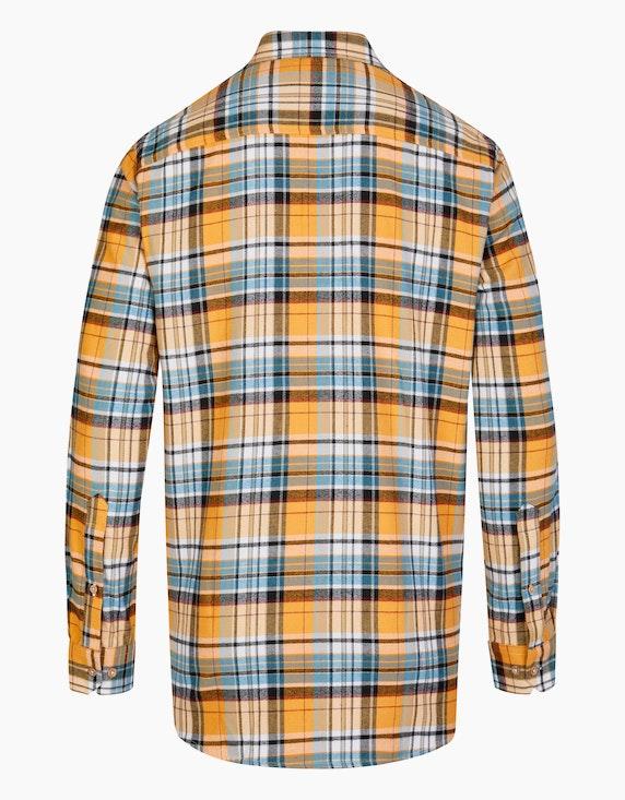 Bexleys man Flanellhemd kariert mit zwei Patten-Brusttaschen, REGULAR FIT   ADLER Mode Onlineshop