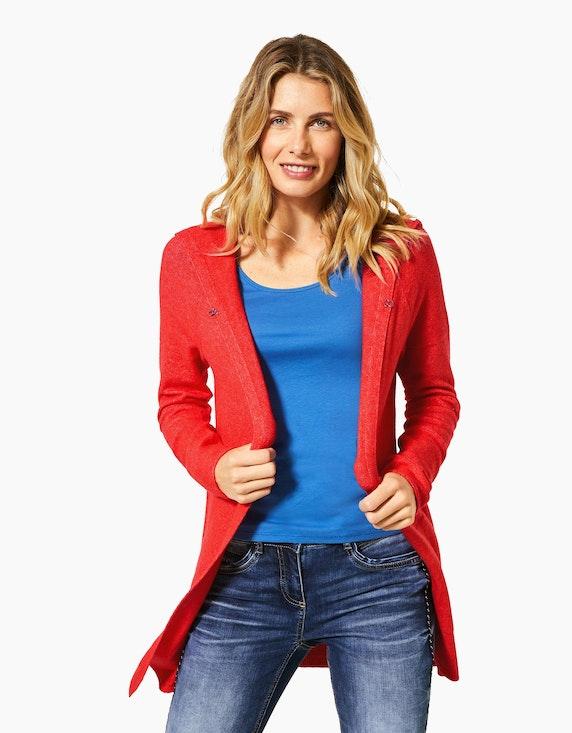 CECIL lange Feinstrick-Jacke mit Kapuze | ADLER Mode Onlineshop