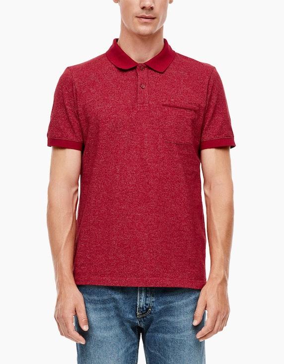 s.Oliver Poloshirt im Melange-Look | ADLER Mode Onlineshop