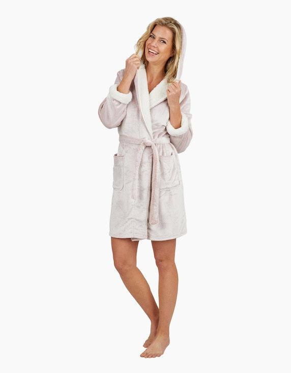 Bexleys woman Flauschiger Bademantel mit Kapuze   ADLER Mode Onlineshop